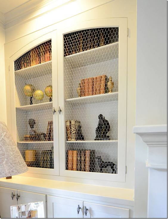 collection bookshelf chicken wire doors pictures wire new styling after adding arched doors w chicken wire cote de