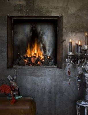 wall fireplace - gorgeous