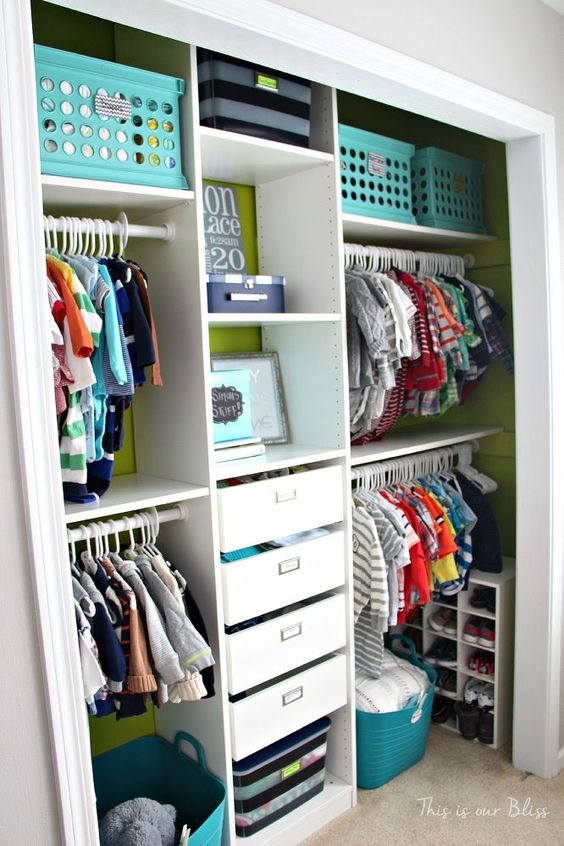 Toddler Baby Closet Organization I Need To Do This Very Smart Use Of The Space