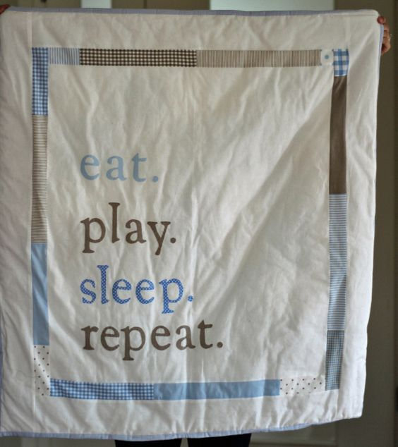 Decke Luke hinten | Babysachen nähen | Pinterest | Krabbeldecke ...