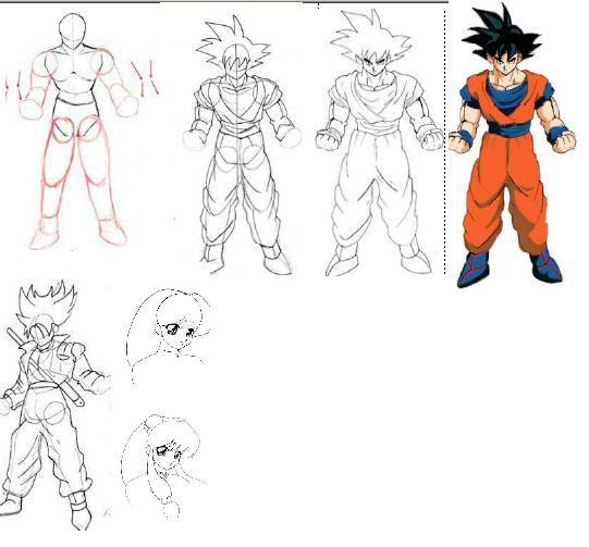 Como dibujar a Goku  Sketches  Pinterest  Goku Dibujar y Ben 10