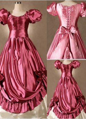 Gorgeous Pink Princess Victorian Dress, ocrun.com