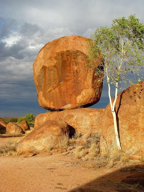 Devils Marbles In The Northern Territory Of Australia These Granite Marbles Formed Millions Of Years Ago From An Upsurge Australia Scenery Australia Travel