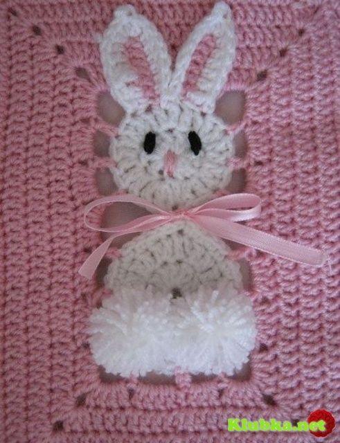 bunny afghan square.