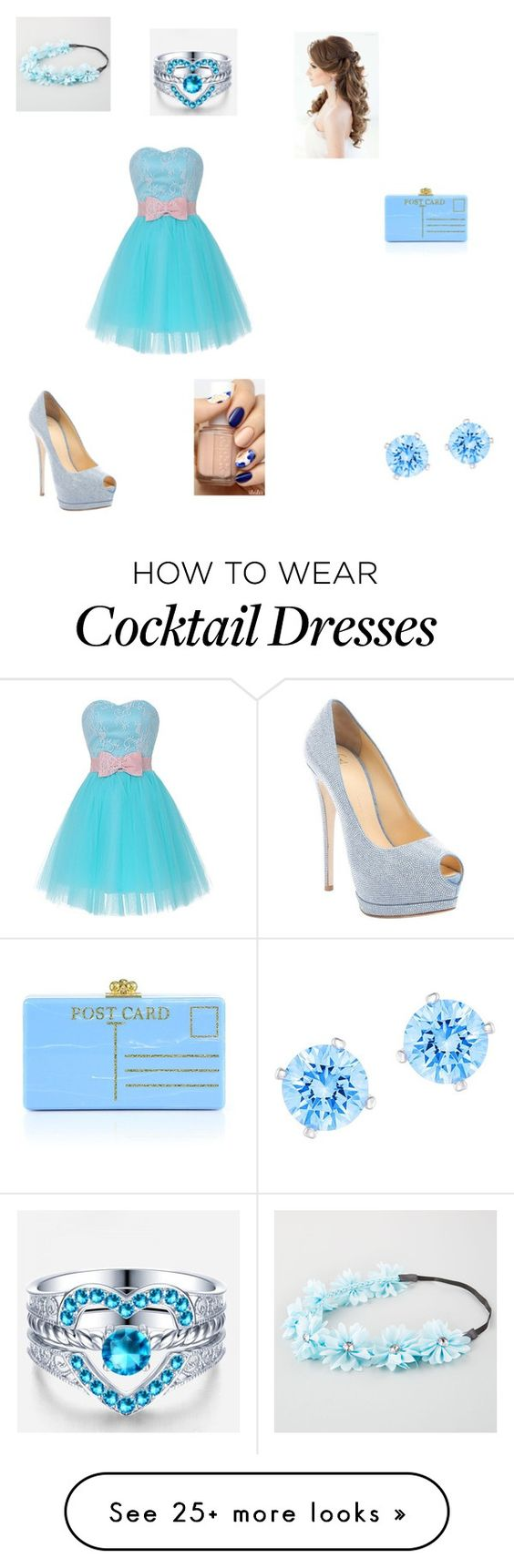 """""""Untitled #104"""" by zzperry on Polyvore featuring Full Tilt, Edie Parker, Giuseppe Zanotti and Swarovski"""