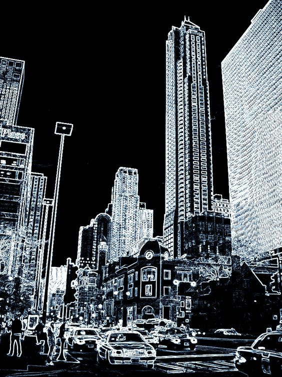 MY Cityscape :) A pic I took while in Chicago and had some fun with in Photoshop.
