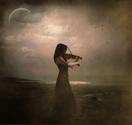 Sad Melody - fantasy, girl, melody, sad, violin | Mostly ...