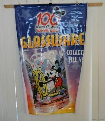 "Disney 100 Years of Magic 28""X42"" McDonald's Steamboat Willie Vinyl Poster 2002"