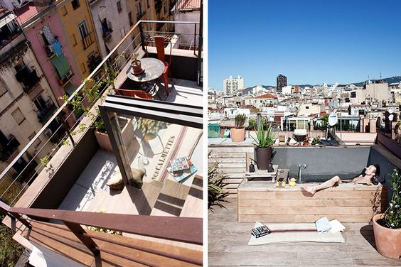 shots of the balcony and other upper level area of Christian Schallert's fab tiny apt. see my other pin >> http://www.pinterest.com/pin/184506915958385247/