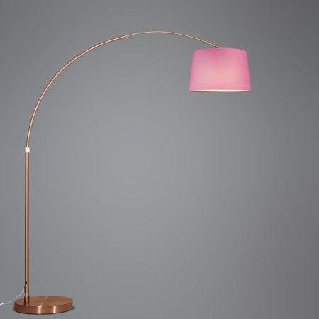 Mix 'n Match Bogenleuchte XXL Kupfer Schirm 40cm rund #Lampe #Innenbeleuchtung #Bogenleuchte #Stehlampe