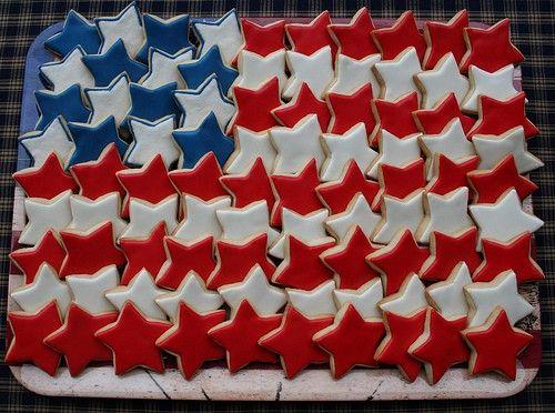 flag cookie platter
