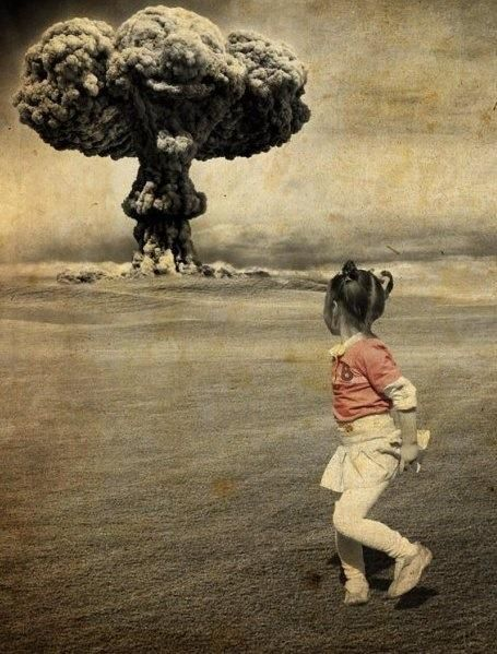 mushroom cloud, nuclear bomb