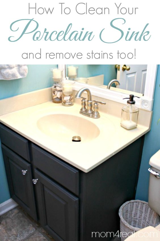 How To Get A Clean Porcelain Sink And Remove Rust Stains
