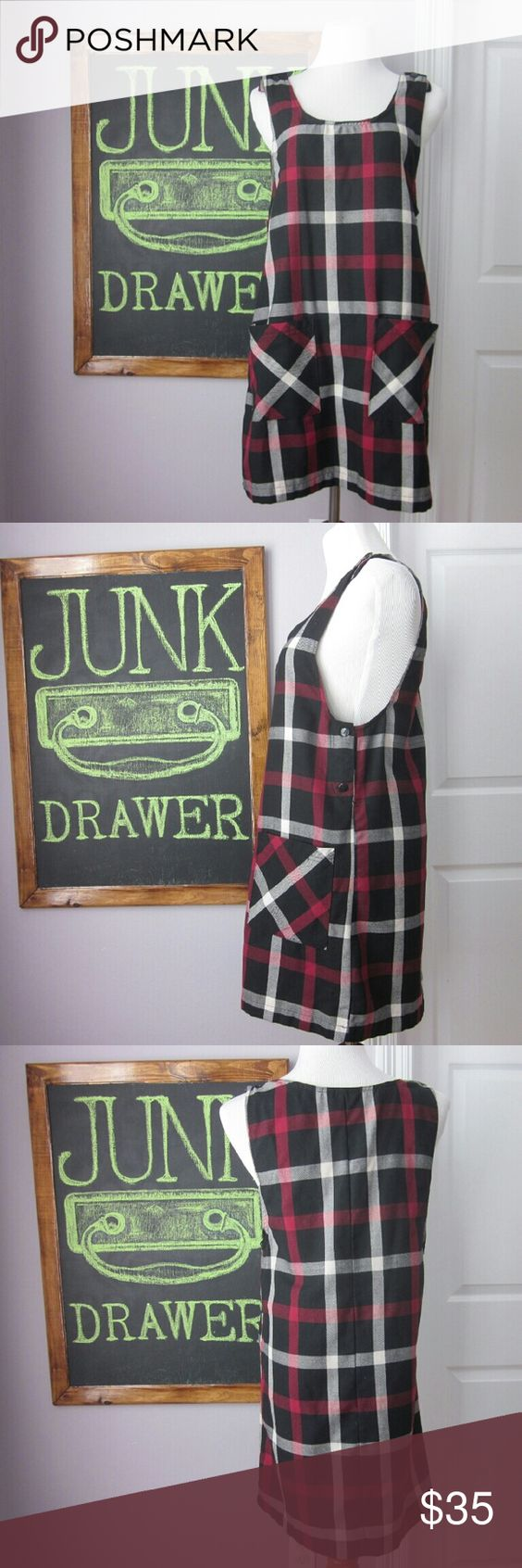 "Vintage Plaid Pinafore Jumper Dress Gently worn - great condition! So cute for fall. 90s schoolgirl look. Missing a button under Lee arm (pic 2 it would be between the 2 You see). You could leave it... Would never notice OR use one of the extra buttons in straps to replace. Straps have 2 buttons each to choose length best for you. 65% poly 35% rayon. Pennylane brand. Bust 19"". Length 33.5""  Bundle for best deals! Hundreds of items available for discounted bundles!   Instagram…"