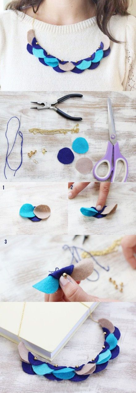 DIY Felt Garland Necklace: