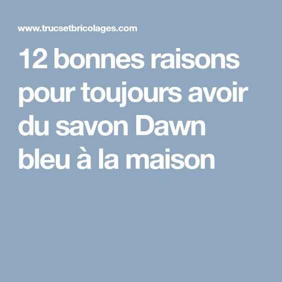 12 Bonnes Raisons Pour Toujours Avoir Du Savon Dawn Bleu A La