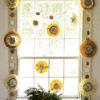 Colorful Medallion Window Garland - Like the felt circle and  snowflake medallion