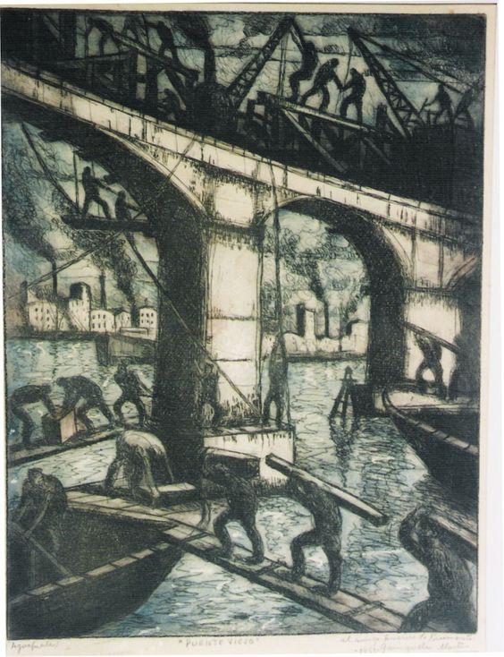 """""""Puente Viejo"""",Benito Quinquela Martín.  #benitoquienquelamartín #puenteviejo"""