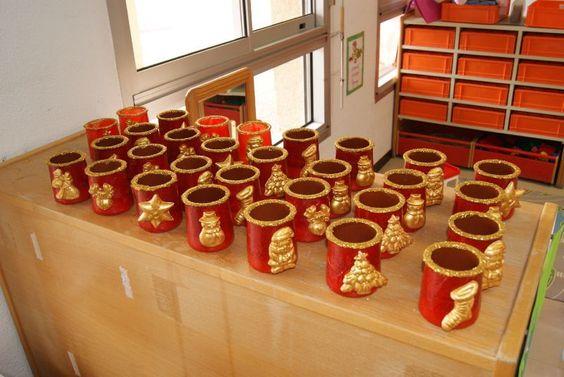 Avec les pots de yaourt en terre verre en stock l 39 cole for Combricolage avec pot en verre