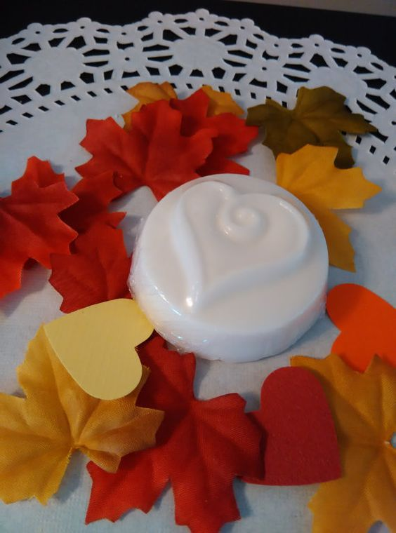 24 Fall wedding hearts in white.  Comes in by HeartWarmerCandles
