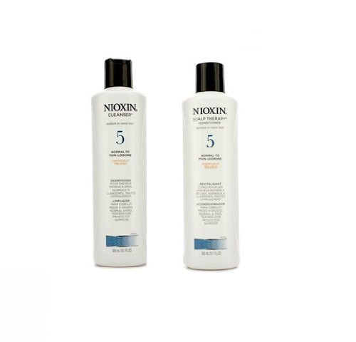 Nioxin System 5 Cleanser and Scalp Therapy Shampoo and Conditioner Duo 10.1oz