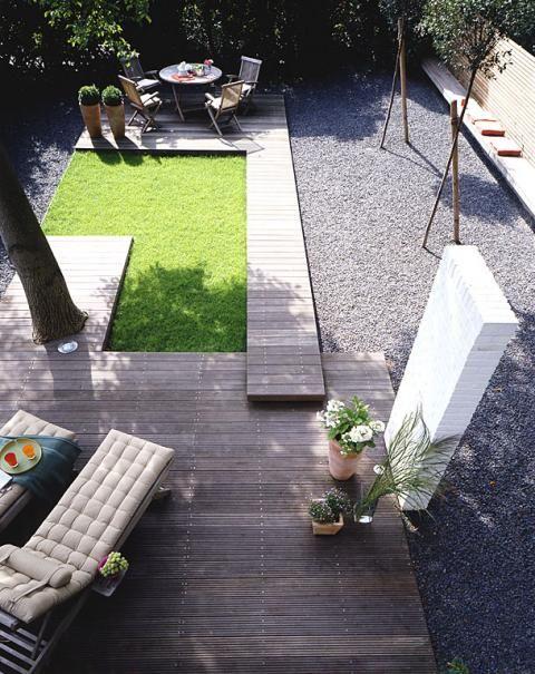 Terrasse Ideen und Tipps zur Terrassengestaltung Kies garten - elemente terrassen gestaltung