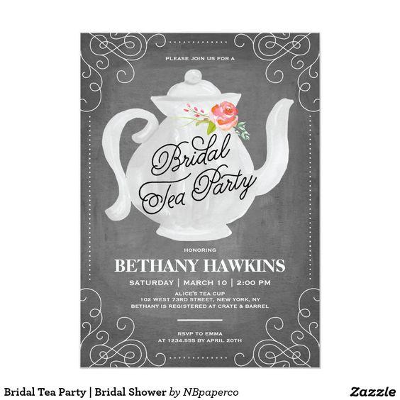 Bridal Tea Party | Bridal Shower 13 Cm X 18 Cm Invitation Card