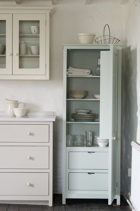 We love this little deVOL Pantry Cupboard with internal drawers and spice rack.