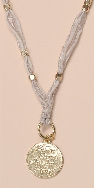 Vintage Ribbon Necklace - Gold GreyAll Accessories and Jewelry are Final Sale