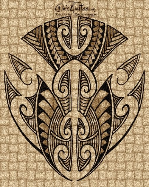 Maori Style Tattoo Designs by ChickTattoo.com