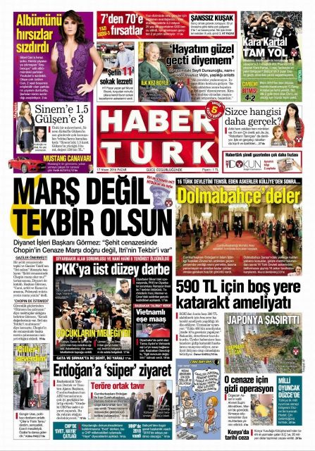 #20160417 #TürkiyeHABER #TURKEY #TurkeyTodayNEWSpapers20160417 Sunday APR 17 2016 http://en.kiosko.net/tr/2016-04-17/ + http://www.trthaber.com/foto-galeri/gazete-mansetleri-17-nisan-2016/10150/sayfa-10.html + #HaberTurk20160417