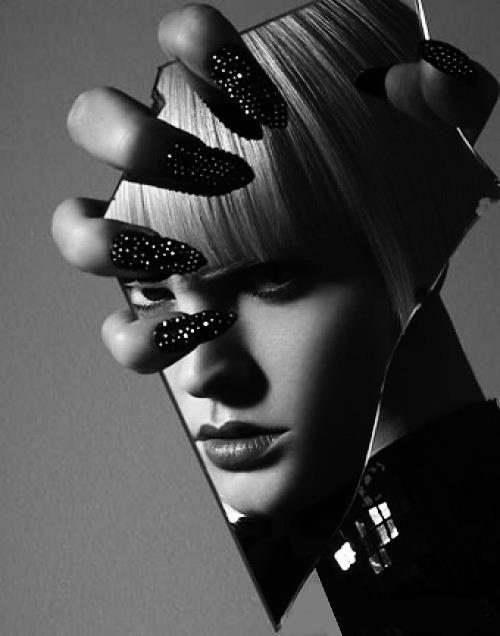 Broken Mirror, reflection, fashion photography, crystal ...