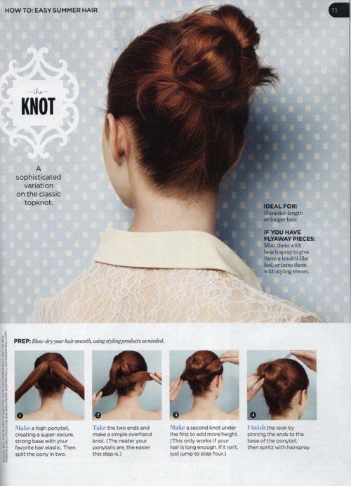 Knot bun updo