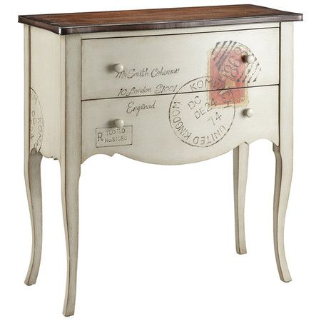 we recycle furniture found at the funniest places... old barns, and bowling alleys  Accent 2 Drawer Chest   call us. we can help!