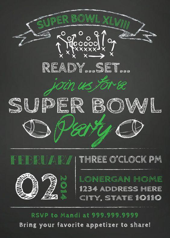 Super Bowl Party Invitation 5Super Bowl Party Invitation Super – Free Printable Super Bowl Party Invitations