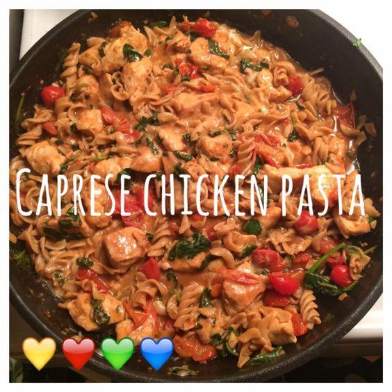 ... Caprese Chicken Pasta | My 21 Day Fix Recipes | Pinterest | Caprese