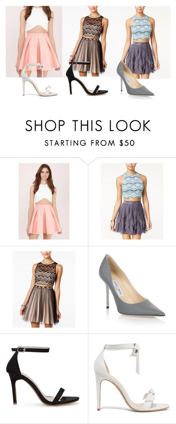 """Sem título #18"" by abjbmg on Polyvore featuring moda, Tobi, Teeze Me, Sequin Hearts, Jimmy Choo e Alexandre Birman"