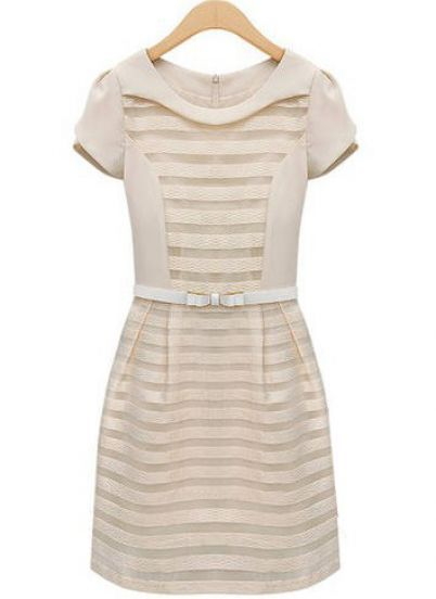 Just adorable!!! This white dress is so classy and retro. Add some gloves for a nod to the past.