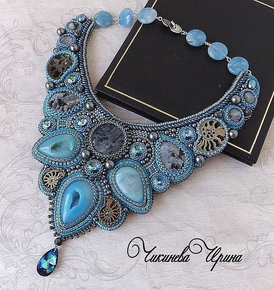 Design of the day - necklace Meltwater by Irina Chikineva | Beads Magic