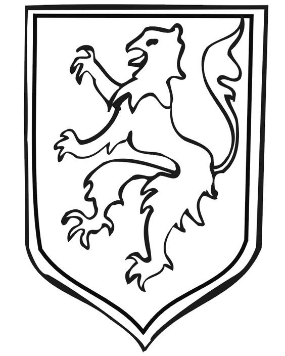 cote of ams coloring pages | Coat of Arms coloring page with a griffin. | Kingdom Rock ...