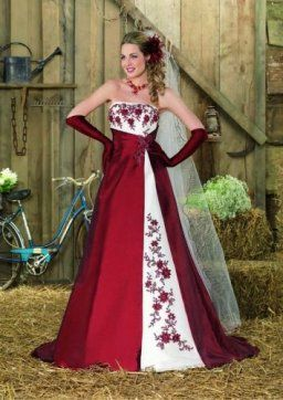 Robe de mariée rouge ou bordeaux  ROBES DE MARIEE ROUGE  Pinterest ...