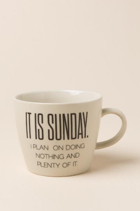 Bloomingville - Ceramic Weekday Mug: