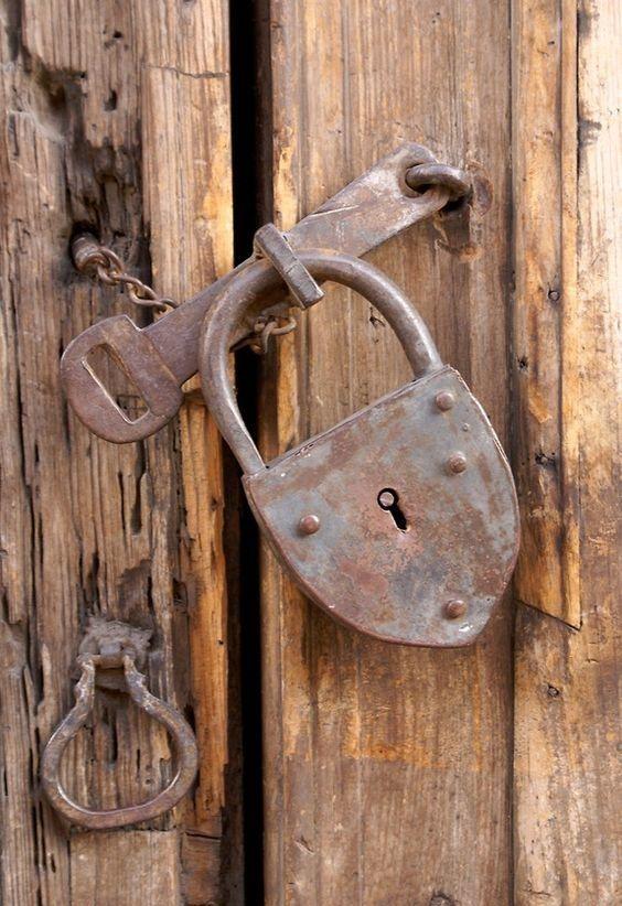 極厚特大 クマ型 アンティーク パドロックキー アイアン 真鍮 南京錠
