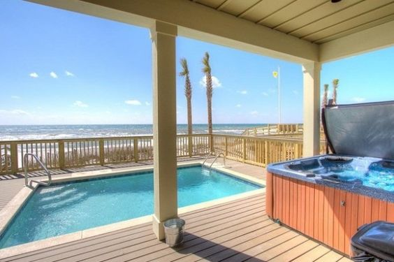 6 Bedroom House Rental In Panama City Florida Usa Beachfront Holiday Fin Home With Private