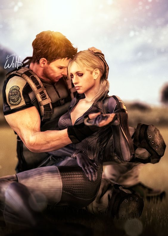 Chris x Jill: Never Give Up by LoneWolf117.deviantart.com on @deviantART