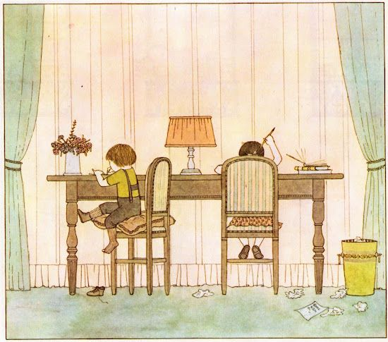 """Friends."" Illustrated by Satomi Ichikawa. Parents' Magazine Press, 1976:"