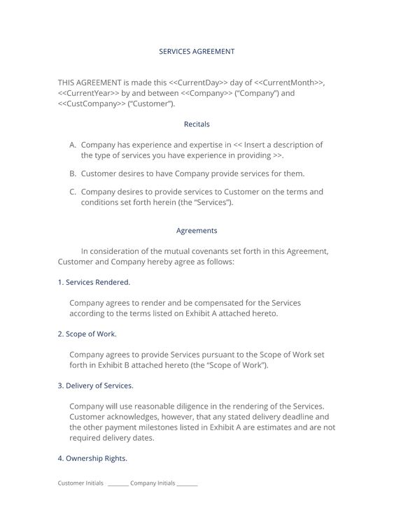 General Services Agreement - The General Services Agreement is a - supply agreement contract