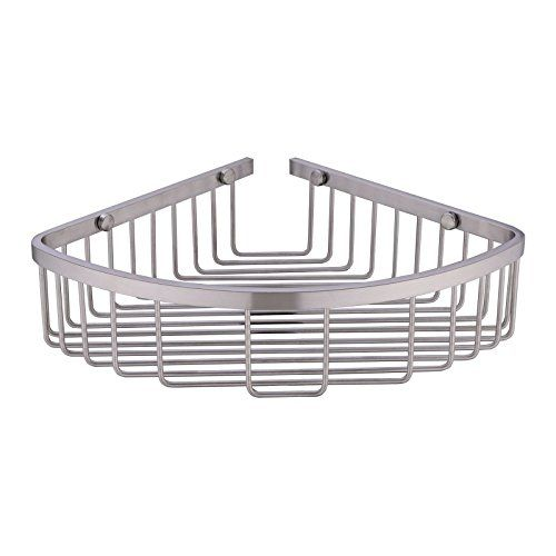 304 Stainless Steel Shower Caddy Corner Basket Shelf Bathroom