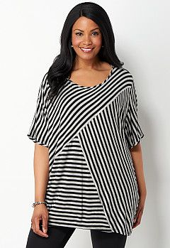 Stripe Splice Dolman Top, 9-0036216433, Stripe Splice Dolman Top Main View PGP