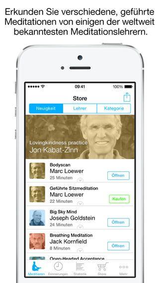Die Achtsamkeit App Screenshot